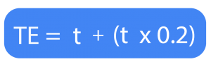 fórmula para calcular el tiempo estándar