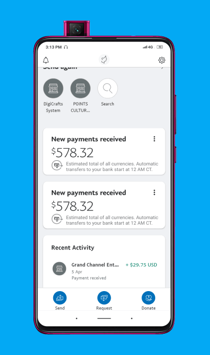 Comprobante de pago de ClipClaps en Paypal