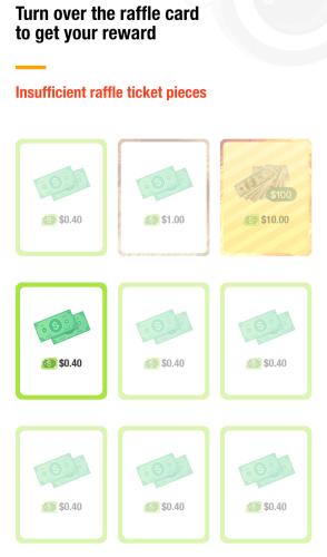Recompensas de los raffle tickets de clipclaps