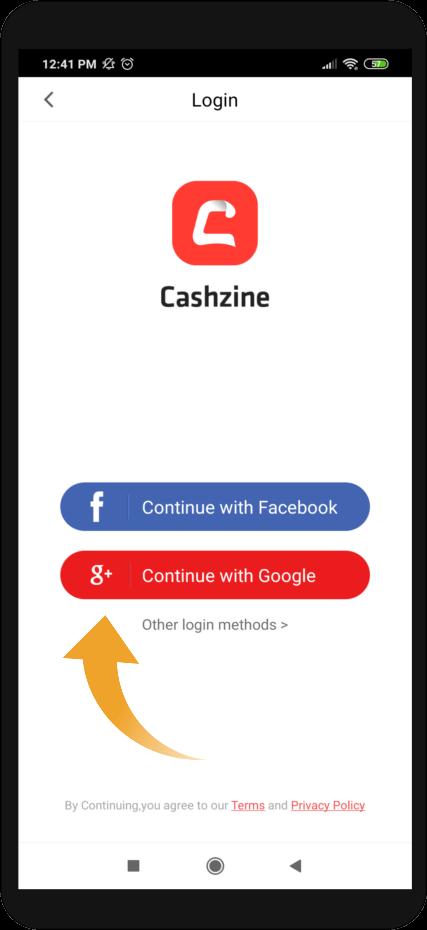 cuenta de Google en Cashzine