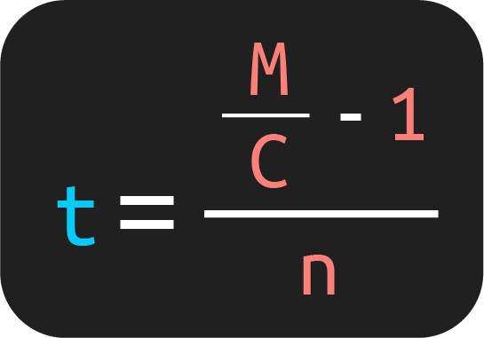fórmula para obtener la tasa de interés a partir de la fórmula del monto