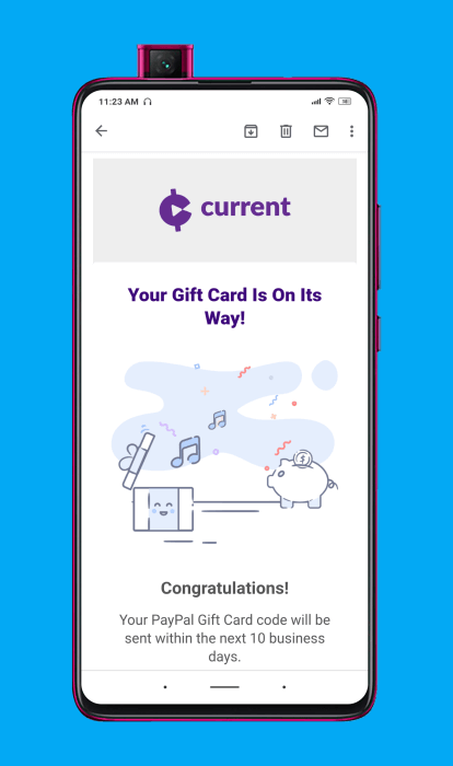 ¿Cuánto tiempo tarda en llegarte el depósito de Current Cash Rewards?
