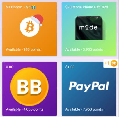 Premios y productos que puedes ganar con Current Cash Rewards