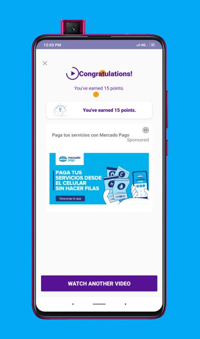 Ganar dinero por ver publicidad en Current cash rewards