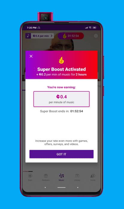 super boost de current cash rewards