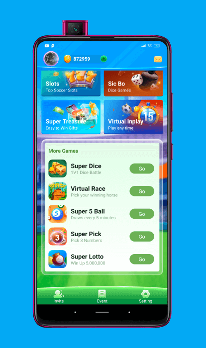 Juegos integrados en la aplicación de GoGoal