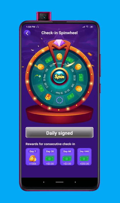 Recompensa diaria de la aplicación GoGoal