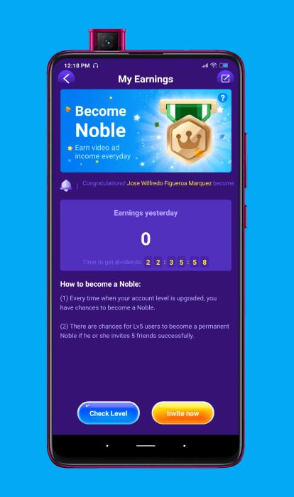 convertirse en noble en la aplicación Gogoal