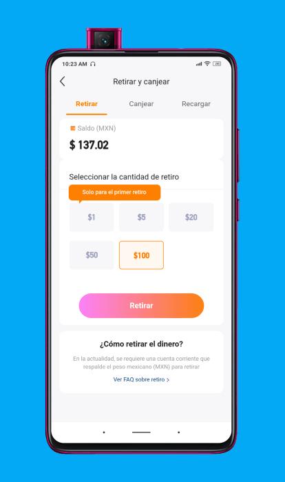 Métodos de pago en la aplicación Kwai
