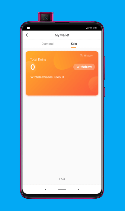Moneda virtual de la aplicación Kwai (koins)