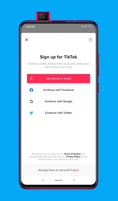 cómo registrarse en TikTok