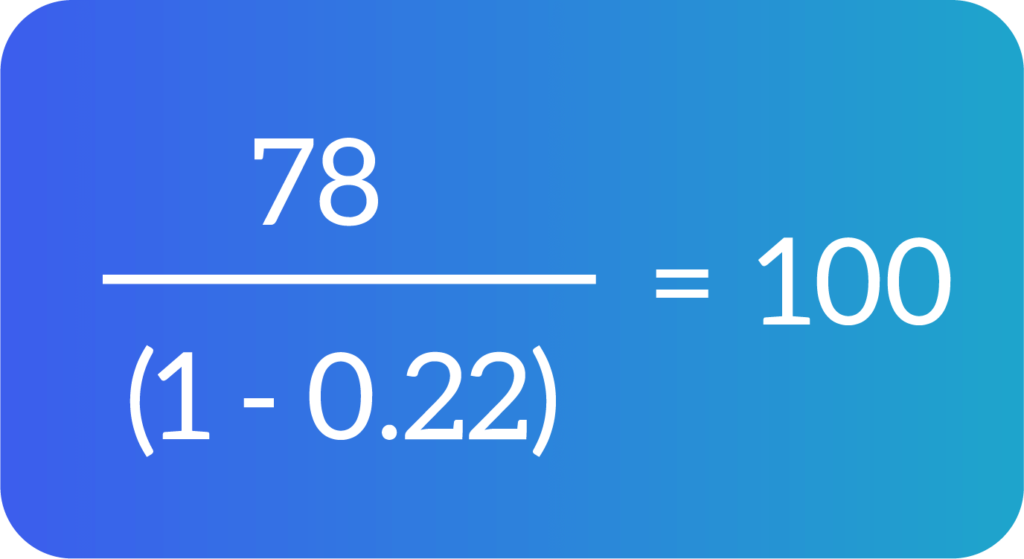 ejemplo del cálculo del precio de un producto